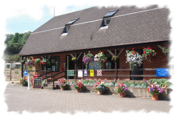 Reception and Shop at Main Entrance to Gate House Wood Touring Park