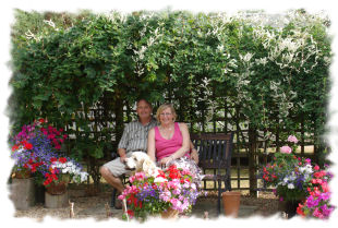 Dave and Karen Macklin in the Garden Area